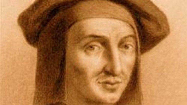 Most likely a portrait of Josquin Desprez (1450?-1521)