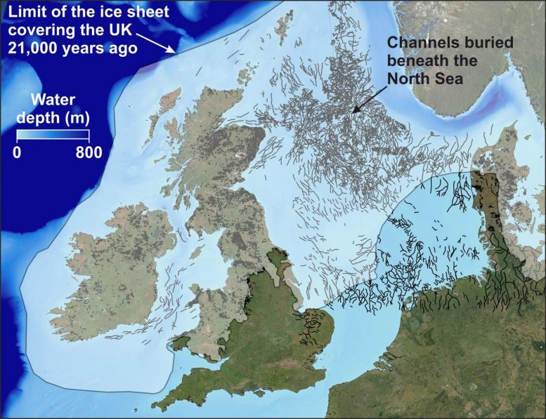 North Sea Map Buried Channels