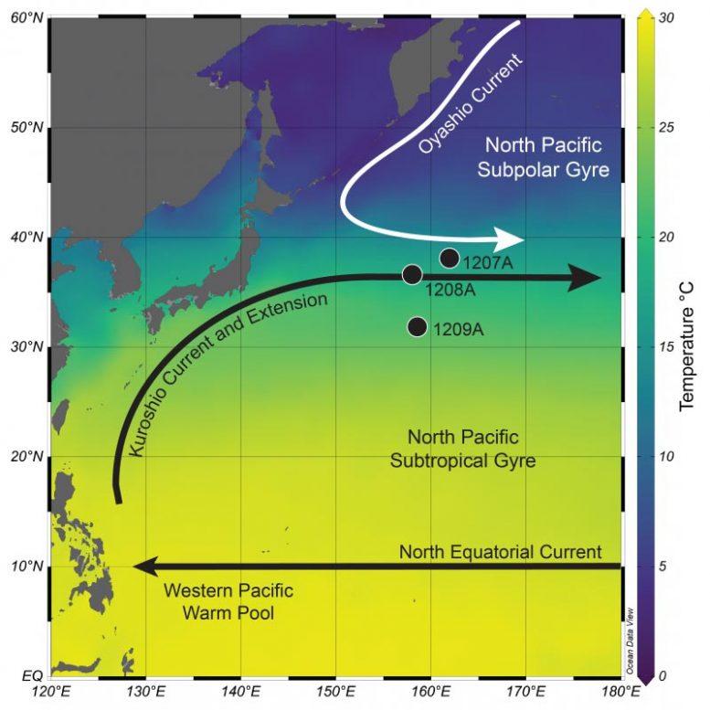 Northwest Pacific Ocean Sea Surface Temperature Map